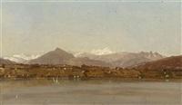 ansicht auf den genfersee mit dem mont blanc im hintergrund by marc dunant