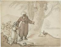 szene aus 1001 nacht - alladin by robert smirke
