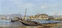 mediterrane hafenstadt by henri arthur bonnefoy