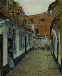 dorfgasse by paul hoeniger