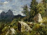 berglandschaft mit geissenhirte by jean-marc dunant-vallier