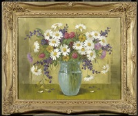 blumenstrauss in einer vase by gottlieb wasem