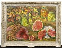 früchte- und blumenstilleben by boris anisimowitsch pinchosowitch