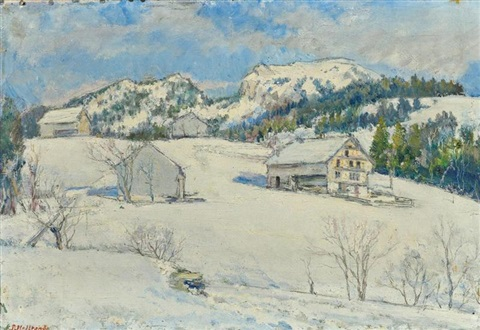 winterlandschaft by jean affeltranger