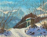 winter in the black forest by hermann dischler