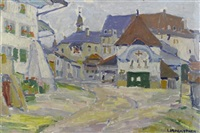 kirchplatz by louis joseph vonlanthen