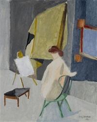 akt im raum by henry wabel
