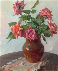 rosen in einer vase by boris t. liskow