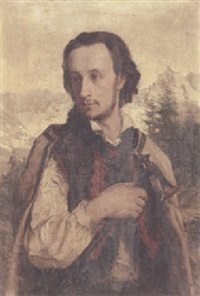 a portrait of ralph modjeski dressed as a polish mountaineer by paul merwart
