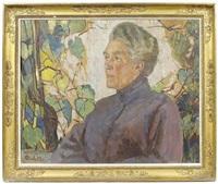 portrait der lisa wenger by gustava iselin-haeger