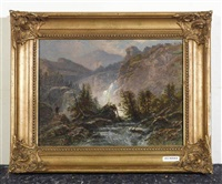 berglandschaft by johann heinrich metzger
