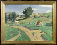 kühe auf der weide by janos laszlo aldor