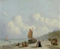 segelboote an der meeresküste by joseph bles