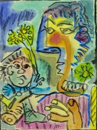 henry malt picasso (2 papierarbeiten) (2 works) by henry miller