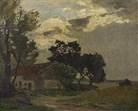 landschaft mit haus by adolf (johann) staebli