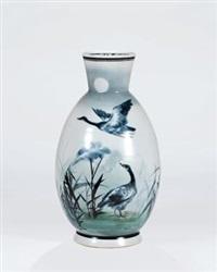 「月影图」瓷瓶 by dai ronghua