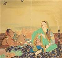 indian beauties by japanese school-nihonga (20)