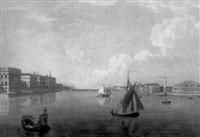 vue de la bourse et du palais de marbre à st. petersbourg by m.f. damame demartrait