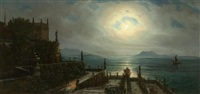 isola bella im mondschein by oswald achenbach