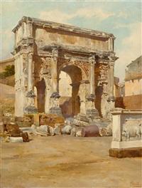 der septimius-serverus-bogen, rom by filippo anivitti