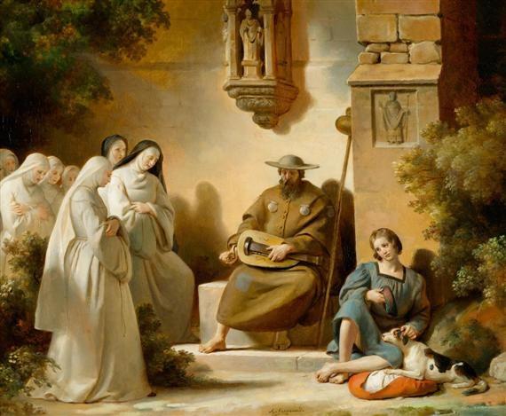 der drehleierspieler by alexandre évariste fragonard