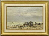 küstenlandschaft by emile louis vernier