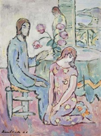 christus, maria und martha by georg einbeck