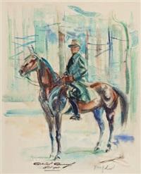 general guisan zu pferd by friedrich traffelet
