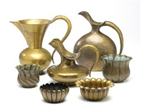 pitchers, bowls and cachepots (7 works) by egidio casagrande