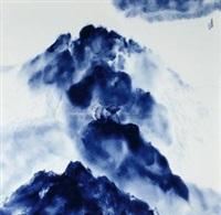 青花瓷板 (porcelain plaque) by gan daofu