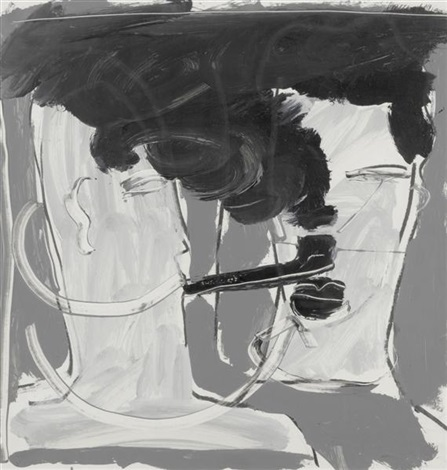 pipe smoker by bruce mclean