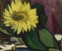 stilleben mit sonnenblume by richard gessner