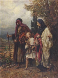 alttestamentarische szene by anton robert leinweber