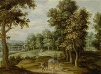 landschaft mit kühen und hirtenknabe by theobald michau
