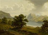 landschaft am vierwaldstättersee by carl julius e. ludwig