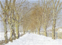 winterpromenade by hermann von le suire