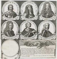 portraits der römischen kaiser von julius cäsar bis franz i. (portfolio of 166) by petrus aquila