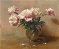 bouquet with peonies by werner weber