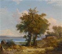 mediterrane landschaft by charles h. poingdestre