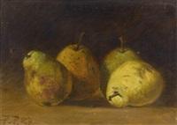stilleben mit birnen by pierre pignolat