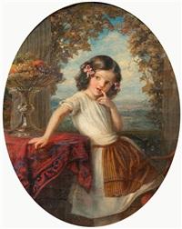 portrait eines kleinen mädchens by eduard steinbruck