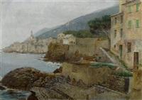 italienisches küstenstädtchen by richard lipps