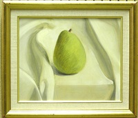still life with pear by mark adams