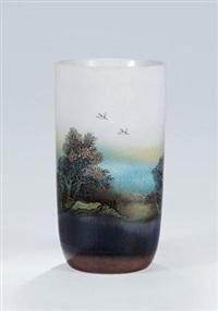 高温色釉综合装饰瓷瓶 by xu jiangyun