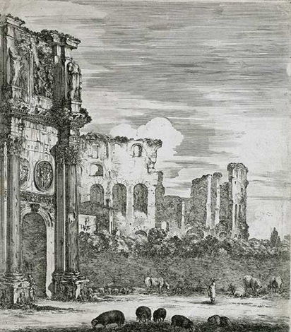 konstantinbogen in rom by stefano della bella