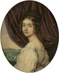 bildnis einer jungen dame by franz napoleon heigel