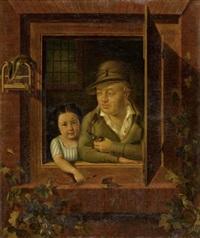portrait des emmanuel streckeisen und seiner urenkelin adèle passavant by sebastian gutzwiller