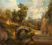 landschaft mit figuren und brücke by anonymous-italian (19)