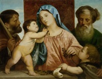 heilige familie by titian (tiziano vecelli)