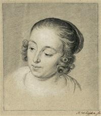 porträt einer jungen frau, im halbprofil nach links schauend by mattheus verheyden